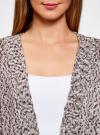 Кардиган свободного силуэта без застежки oodji #SECTION_NAME# (коричневый), 63205159-2/38189/2039M - вид 4