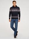 Пуловер вязаный с отложным воротником oodji для мужчины (синий), 4L205025M/25365N/7945N - вид 6