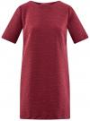 Платье из фактурной ткани прямого силуэта oodji #SECTION_NAME# (красный), 24001110-3/42316/4900N