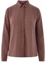 Блузка базовая из струящейся ткани oodji для женщины (красный), 11400368-8B/48854/4930G