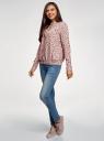 Блузка свободного силуэта из струящейся ткани oodji #SECTION_NAME# (розовый), 11400454/42540/4029F - вид 6