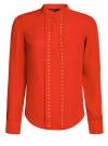 Блузка с металлическими стразами oodji #SECTION_NAME# (красный), 21401247/32823/4500N