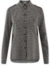 Блузка базовая из вискозы с нагрудными карманами oodji #SECTION_NAME# (черный), 11411127B/26346/2933G