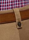 Брюки-чиносы из хлопка oodji для мужчины (коричневый), 2L150161M/47385N/3500N