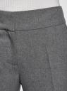 Брюки классические со стрелками oodji #SECTION_NAME# (серый), 11700214-1B/14917/2500M - вид 4