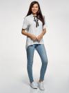 Блузка вискозная с завязками на воротнике oodji #SECTION_NAME# (белый), 11405143/48458/1029O - вид 6