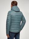 Куртка стеганая с капюшоном oodji #SECTION_NAME# (синий), 1B112009M/25278N/7501N - вид 3