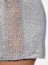 Шорты домашниие из вискозы oodji для женщины (серый), 59807059/19768/2000M