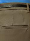 Юбка короткая хлопковая с ремнем oodji #SECTION_NAME# (зеленый), 11600397B/14522/6800N - вид 5