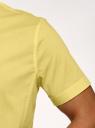Рубашка базовая с коротким рукавом oodji #SECTION_NAME# (желтый), 3B240000M/34146N/5200N - вид 5