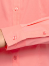 Рубашка приталенная с V-образным вырезом oodji #SECTION_NAME# (розовый), 11402092B/42083/4100N - вид 5