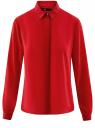 Блузка из струящейся ткани oodji #SECTION_NAME# (красный), 11400368-3/32823/4500N