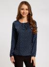 Блузка свободного кроя с вырезом-капелькой oodji #SECTION_NAME# (черный), 21400321-2/33116/2975G - вид 2