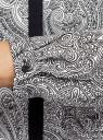 Блузка из струящейся ткани с контрастной отделкой oodji для женщины (серый), 11411059/43414/1029E