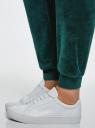 Брюки спортивные на завязках oodji для женщины (зеленый), 16701051B/47883/6E00N