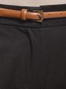 Брюки slim с отворотами oodji для женщины (черный), 11705016/22434/2900N