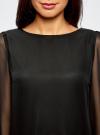Платье прямого силуэта из струящейся ткани oodji #SECTION_NAME# (черный), 11900150-13/13632/2900N - вид 4