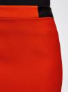 Юбка короткая с отделкой из искусственной кожи oodji #SECTION_NAME# (красный), 11601179-10/46415/4500N - вид 5