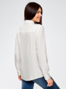Блузка вискозная с нагрудным карманом oodji #SECTION_NAME# (слоновая кость), 13L11012-1/47741/1200N - вид 3