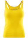Майка-борцовка с люверсами на лямках oodji для женщины (желтый), 24305006B/46164/5100N