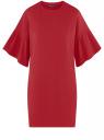 Платье прямого силуэта с воланами на рукавах oodji #SECTION_NAME# (красный), 14000172B/48033/4902N