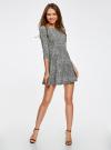 Платье трикотажное принтованное oodji #SECTION_NAME# (серый), 14001150-3/33038/1229A - вид 2