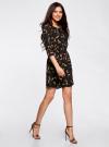 Платье вискозное с рукавом 3/4 oodji #SECTION_NAME# (черный), 11901153-1B/42540/3959A - вид 6