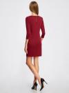 Платье с металлическим декором на плечах oodji #SECTION_NAME# (красный), 14001105-3/18610/4900N - вид 3