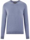 Пуловер базовый с V-образным вырезом oodji #SECTION_NAME# (синий), 4B212007M-1/34390N/7401M