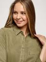 Платье-рубашка из лиоцелла oodji для женщины (зеленый), 12909062-1/48219/6600N