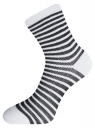Комплект хлопковых носков в полоску (3 пары) oodji для женщины (разноцветный), 57102813T3/48022/19