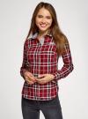 Рубашка принтованная хлопковая oodji #SECTION_NAME# (красный), 11406019/43593/4529C - вид 2