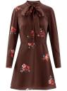 Платье принтованное с бантом oodji для женщины (красный), 11913031/26546/4945F