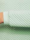 Свитшот прямого силуэта из фактурной ткани oodji #SECTION_NAME# (зеленый), 14801037-2/45247/6500N - вид 5