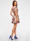 Платье приталенное с V-образным вырезом на спине oodji #SECTION_NAME# (разноцветный), 14011034B/42588/3070F - вид 3