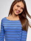 Платье трикотажное базовое oodji для женщины (синий), 14001071-2B/46148/7079S - вид 4