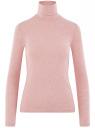 Водолазка хлопковая oodji для женщины (розовый), 15E02001B/46147/4100M