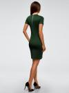 Платье облегающего силуэта на молнии oodji #SECTION_NAME# (зеленый), 14011025/42588/6900N - вид 3