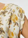 Платье вискозное без рукавов oodji #SECTION_NAME# (желтый), 11910073B/26346/5052F - вид 5
