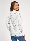 Блузка вискозная с нагрудными карманами oodji #SECTION_NAME# (белый), 11411201/24681/1229O - вид 3