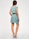 Платье вискозное без рукавов oodji для женщины (зеленый), 11910073B/26346/6529F