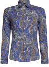 """Рубашка хлопковая с принтом """"пейсли"""" oodji #SECTION_NAME# (синий), 21402212-1/45966/7535E"""