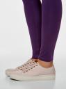 Легинсы базовые трикотажные oodji для женщины (фиолетовый), 18700046-2B/47618/8800N