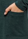 Кардиган удлиненный с разрезами по бокам oodji для женщины (зеленый), 17900045/45723/6C29M
