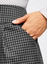 Юбка короткая с карманами oodji #SECTION_NAME# (черный), 11605056-2B/22124/2923C - вид 4