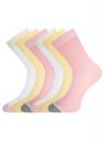 Комплект из шести пар носков oodji #SECTION_NAME# (разноцветный), 57102908T6/15430/5 - вид 2