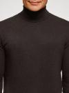 Свитер базовый из хлопка oodji #SECTION_NAME# (коричневый), 4B312003M-1/34390N/3901M - вид 4