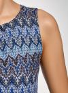 Платье макси с завязкой на поясе oodji #SECTION_NAME# (синий), 24005138/45509/7925E - вид 5