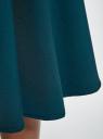 Юбка миди на подкладке из сетки oodji для женщины (зеленый), 11600364/43348/6C00N