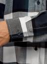 Блузка вискозная с нагрудным карманом oodji для женщины (синий), 11411155/46612/7912C